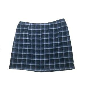 Old Navy Vintage Wool Blue Plaid Skirt